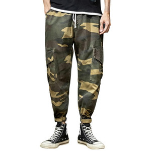 feitong Men's Summer Jeans New Style Leisure Camouflage Overalls Fashion Multi-Pocket classic male denim jeans Trousers#g25