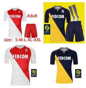 2021 Maillot de alta qualidade como camisa de futebol monaco logotipo jovítico 20 21 homens maillot de pé rebanho Jorge personalizado futebol camisa