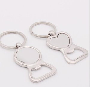 Love Heart round Bottle Opener Key Ring Custom Bride & Groom Personalized Wedding Party Gift opener for Guests Favors supplies FFA3080