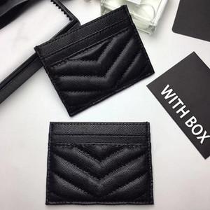 Nuevos hombres de primera calidad Classic Casual Casual Tarjeta de crédito Titulares de cuero Cuero Ultra Slim Wallet Bolsa de paquete para Mans Mujeres 10.5 * 7.5 * 0.5cm