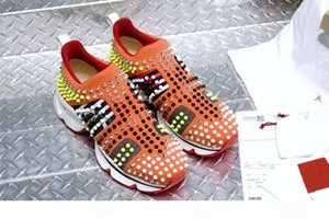 Genuine Leather Paris Red Bottoms Mens Womens Designer Outdoor Sports Shoes Bottom Spike Luxury Casual Sneakers Hommes Chaussures Size36-46