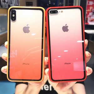 Rainbow Gradient Phone Cases For iphone 12 Pro 11 XS Max X XR XS 7 8 Plus Acrylic Transparent Protective Cover For iPhone 11 Pro Max Cover