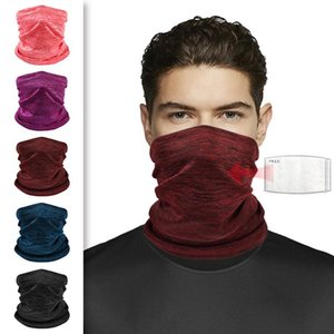 1 Pc Solid Color Magic Elastic Breathable Neck Gaiter Warmer Tube Scarf Half Face Cover Bandana For Cycling Hiking