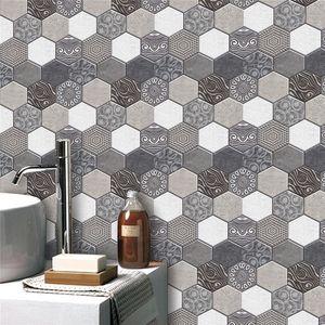 10 20Pcs 3D Brick Stone Wall Sticker Bathroom Living Room Self Adhesive PVC Tiles Wall Papers Home Decor 201009