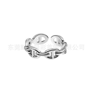 2020 Creative Fashion Simple Mens and Womens Chaine Chain Grain Pig Nose Opening Adjustable Size Ring