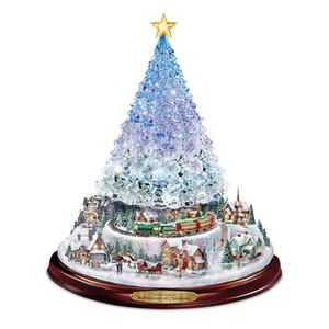 Рождественские наклейки Рождественская елка Снежный человек Вращающиеся Скульптура Наклейки Поезд Наклейки Окно Паста Наклейки Домашние Рождественские Украшения BWE2950