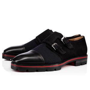 20s caballero fiesta bussiness vestido resbalón en mocasines, zapatos de tacones bajos suela de goma grueso fondo rojo oxfords de lujo de lujo casual de moda