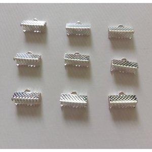 100pcs in metallo crimpatura perline perline chiusura cavo end clips stringa nastro clip in pelle girevole collana collana braccialetto connettore per gioielli creazione f wmtbkx