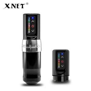 XNET Yeni Profesyonel Kablosuz Dövme Makinesi Kalem Güçlü Fırçasız Motor Hızlı Şarj Sanatçı Vücut Için 2400 MAH Lityum Pil