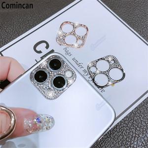 다이아몬드 카메라 렌즈 보호 필름 iPhone 11 12 Pro Max Glitter Crystal Len Protector 커버 iPhone11 Pro 최대 유리 커버