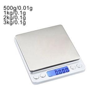 3000G / 0.1G Electronic Digital escalas escala de equilíbrio 500g / 0.01g LCD Digital Pessoal Escala de Jóias Mini Gram Escalas Escamas de Cozimento Ferramentas de Cozinha