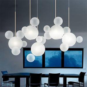 Living room Chandelier Warm White Lighting Creative Clear Glass Bubble Lamp Children room Indoor Decor Lighting Fixture