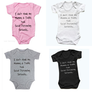 Baby Onesies Girl Boy Short Sleeve Crew Neck Snap Button Letters Infant Romper Newborn Toddler Summer Clothes Jumpsuit Comfortable 8xyc G2