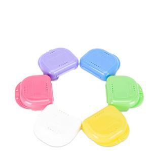 Caixas de armazenamento de braçadeira caixa de armazenamento de dente buckguards biteguards caixa dental ortodôntic retentor dentaduras esporte guarda navio mar gwb3744