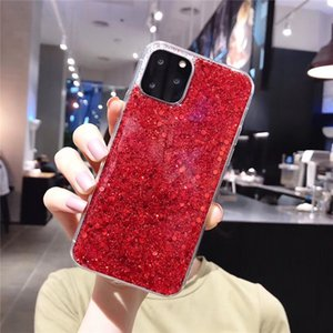 Bling Shining Powder Sequins Phone Case For iphone 11 11Pro Max XS Max XR X 6 6S 7 8 Plus Capa Colorful Glitter Cover Cases