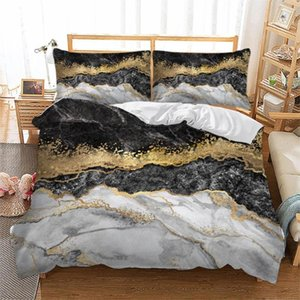 Wongs bedding gold marble Bedding Set Duvet Quilt Cover Single Double Twin Queen King Size 3pcs