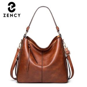 ZENCY 2020 Зимний Классический Модный Дизайн Дама Сумка Простые Повседневные Дамы Торговая сумка Блоки Сумки Большой Емкость Сумки для Crossbody