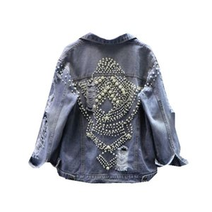 Harajuku jacket women Bomber jacket Loose BF Style Coat Baseball Outwear Pearl Diamond Windbreaker Streetwear Korean clothes new