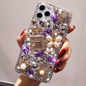 Luxury Bling Glitter Phone Crystal Diamond Ball Pendant Case Cover Iphone 12 Mini 11 Pro XS Max XR X 8 7 Plus Samsung Galaxy Note 20 S20