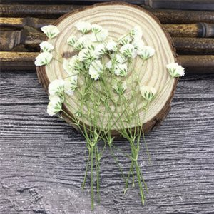 White Starry Flower Framed Dried Pressed Flower Arrangements 9 Different Colors For Home Ornaments 100 Pcs Y1128