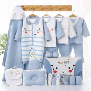 Clothes for Babies Newborn Gift Box Set Spring and Autumn Pure Cotton Thickened New Born Newly Born One Month Old Baby All Products