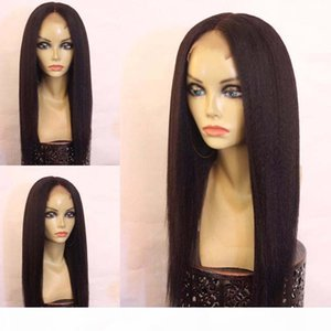 Yaki Straight Silk Base Lace Front Human Hair Wig Brazilian Virgin Hair Silk Top Full Lace Wig With Baby Hairs