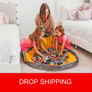 Toy Clean-up and Storage Container Multifunctional Portable Toys Storage Bean Bag Waterproof Organizer Bucket Pouch