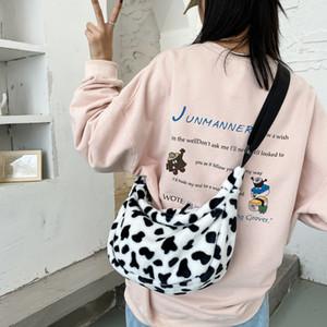Fashion Women Cross Banane Bag Girl Cow Woman For Belt 2020 Shalr Bag Body Soft Sac Cute Bumbag Waist New Crackle Vcdkl