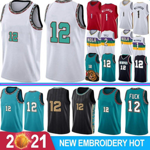 NCAA Ja 12 Morant Men Basketball Jerseys Zion 1 Williamson Lonzo 2 Ball S-XXL Hot Sale College Jerseys 2021