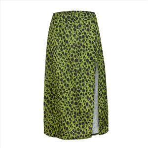 JAYCOSIN Skirt Womens Fashion Summer Long Skirts Sexy Open Cross Printed Half length Skirt Skirts Womens Autumn High Waist