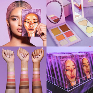 Палитра палитра палиты для красоты Dragun Palette Blushes Bright Bright Face Contours Contry Highlights
