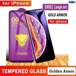 Wholesale Full Glue Screen Film Golden Armor OG Tempered Glass for iphone 12 11 pro max Xs max 6s 7 8 plus XR Screen protector with package