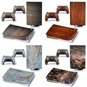 تصميم الخشب الجلد ملصق ل PS5 القرص - شراء ملصق الجلد لطبعة القرص PS5 Y1201