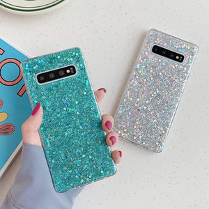 Glitter Sequins Phone Case For Samsung Galaxy S20 S10 S8 S9 A50 A70 A10 20S Note 10 Pro Epoxy Soft Back Cover Coque