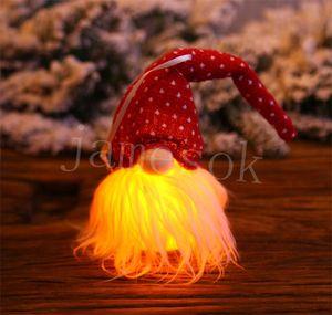 Christmas Ornament Christmas Tree Decoration Pendant Night Light Glowing Wall Hanging Pendant Holiday Decor Gift HHE2884