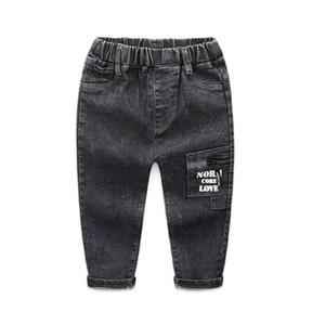 Keaiyouhuo 2020 otoño / invierno pantalones vaqueros flacos para niños pantalones de vaqueros de color oscuro de color oscuro pantalones largos niños bebé niño strech jeans j1205