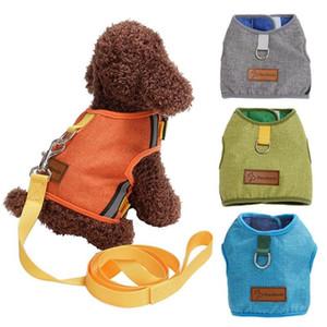 Kedi Köpek Ayarlanabilir Koşum Keten Yelek Yavru Yavru Yavru Köpek Köpekler için Yaka Hasır Koşum Küçük Orta Köpek Pet Göğüs Strap123
