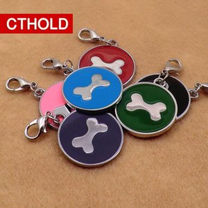 100 pcs lot Personalized Bone Dog ID Tags Engraved Custom Pet Puppy Cat Name Phone Anti-lost Collar Accessories Alloy Material Q1122