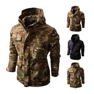 Men's Jackets Camouflage Waterproof Winter Jacket Outdoor Camouflage Jacket Men's Hooded Coats Tactical Hooded Male Coat