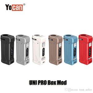 100% original Yocan Uni Pro-Box Mod 650MAH Vorwärmen VV-Variablenspannung OLED-Anzeigen-Batterie für 510 dicke Ölpatronen Zerstäuber Authentic