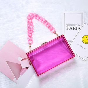 Color Shopping Bag Party Acrylic Women Ladies 2021 Handbag Box Fashion Shoulder Hot Jelly Mini Candy Sales Purses Eaqae Hmtit