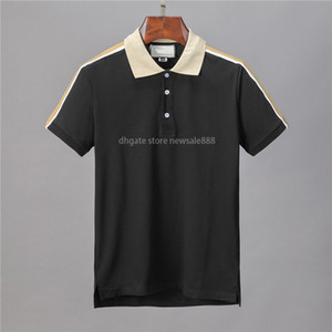 Designer Polo Shirts Hommes Casual Polo T-shirt Imprimer Broderie Fashion Europe Paris High Street Couleur Solide Mens Polos Manteau Coton M-3XL