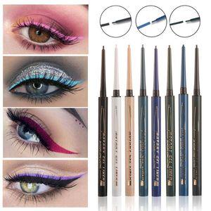 Colourful Pigment Rotate Super Slim Matte Eyeliner Gel Waterproof Long Lasting Natural Black Eyeliner Pencil Eyeshadow Pen Free Shipping