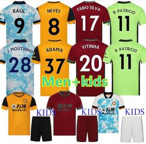Kit Kit Wolves Neves Raul Terza maglie da calcio 2020-21 Adama Diogo J. Coady Neto Podence Doherty Boly J.otto Casa Away Camicia da calcio