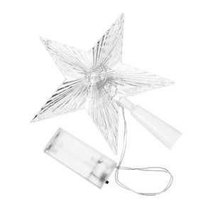 1Pc Star Topper Practical Christmas Tree Topper Star Lamp Tree for Mall