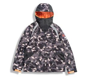 Venda quente Homens Camuflagem Verde Jaquetas Quentes Inverno 2021 Grosso Algodão-acolchoado Basebol Chotes Homens Manga Longa Jaqueta Quente de Algodão