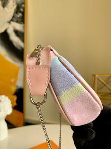 Neue Mode Escale Pochette Accessoires Luxurys Designer Frauen Mini Designer Clutch Hobos Tasche mit Kette Neue Krawatte Farbstoff Riesen Serie Kleine Taschen