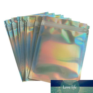 20 stücke transluzent holographische Aufbewahrungstasche Weihnachten Geschenk Verpackungssocken Sexy Dessous Handschuh Kosmetik Reißverschluss Taschen