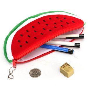 2018 plush watermelon pencil case women cosmetics purse wallet holder pouch practical school student office pencil bags wu4GX