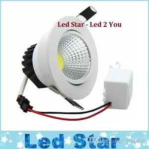 Mais novo 5W 7W 9W 12W COB LED Downlight Dimmable Dimmable LED Teto Luz Branco Shell High Lumen Para Luz Casa AC 110-240V